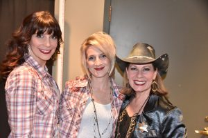Leslie, Jen, and Judy backstage